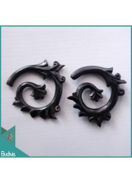 Production Bali Spirall Black Horn Body Piercing