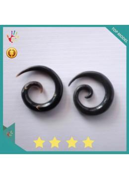 Direct Artist Bali Spirall Black Horn Body Piercing