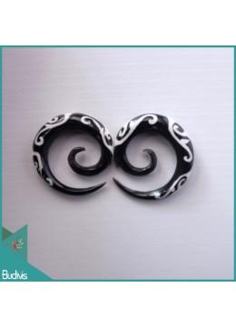Best Seling 2018 Bali Spirall Black Horn Body Piercing