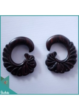 Direct Crafter Bali Wooden Earring Body Piercing C Style