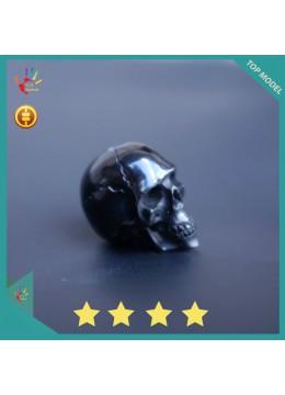 Black Horn Carved Skull Jewelry Making - Big