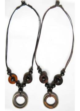 Bali Beaded Wood Necklace