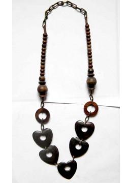 Beautiful Wood Beads Necklace