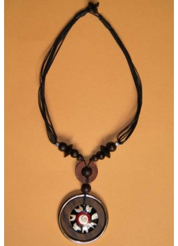 Natural Wood Beads Necklace