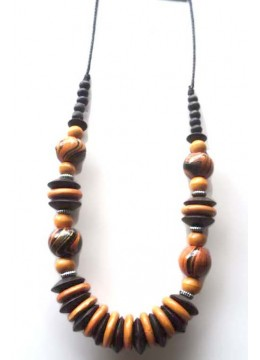 Wood Beads Colour Necklace