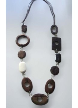 Sono Wood Combined Necklace