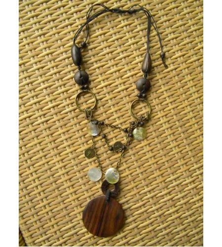 Bali Nature Wood Necklace