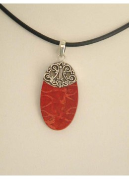 Beautiful Red Coral Silver
