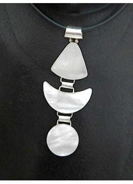 Mop Shell Silver Pendant