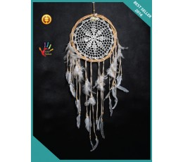 For Sale Twisted Rattan Crocheted Hanging Boho Dream Catcher