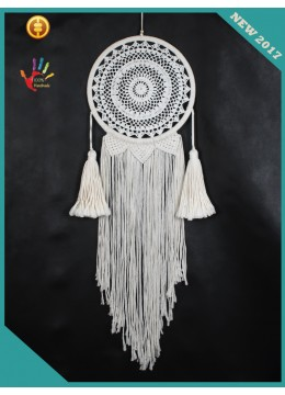 Top 2017 White Boho Macrame Dream Catchers