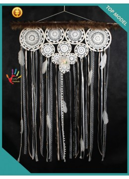 Multiple Blossom Hanging Wedding Bohemian Macrame Dream Catchers