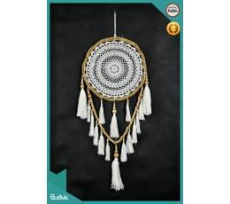 Bali Hanging Hanging Dreamcatcher Tassel  Crocheted