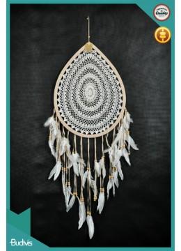 New! Drop Hanging Dreamcatcher Crocheted