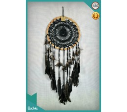 2017 Top Selling Large Rattan Black Hanging Dreamcatcher Crocheted