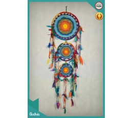 Affordable Large Triple Rainbow Hanging Dreamcatcher Crocheted