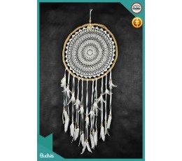 New! Rattan Twisted Hanging Dreamcatcher Crocheted