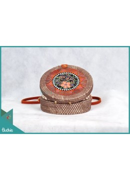 Top Sale Round Bag Antique With Synthetic Rattan