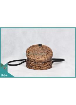 Wholesale Round Bag Antique Painitng Full Rattan