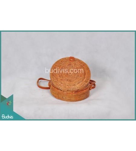 Best Selling Round Bag Flower Native Woven Full Rattan