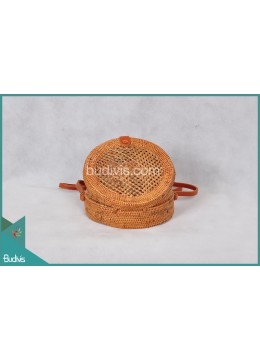 Wholesaler Round Bag Full Rattan Natural With Hole Woven