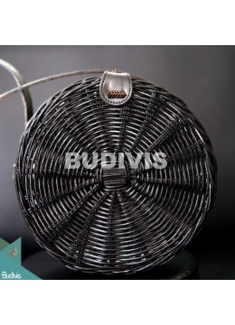 Black Hand Woven Natural Atta Round Bag Best Selling