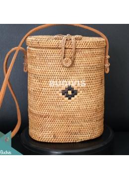 Long Oval Cross Body Rattan Bag, Best Selling Rattan Bag