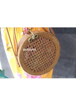 Rattan Grass Bag ,Shoulder Bags With Leather Straps