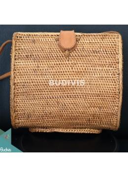 Sibuyan Brown Bali Rattan Bag, Hand Woven Rattan Bag