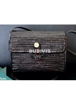 Black Rattan Bags Women Summer Beach Bag, Bohemia Handbags