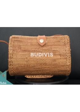 Sibuyan Brown Bali Rattan Bag With Stand , Hand Woven Rattan Bag