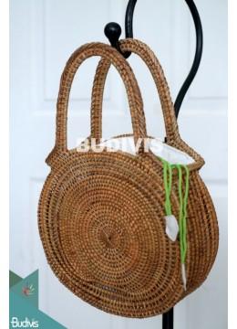 Natural Color Rattan Handwoven Hand Bag