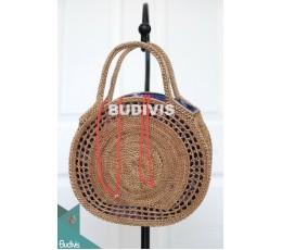 Best Model Natural Color Rattan Handwoven Hand Bag