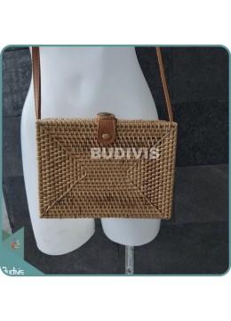 Rectangle Plain Rattan Bag