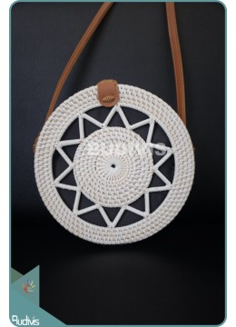 Star With Rattan Round Bag