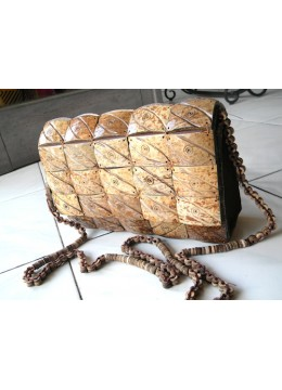 Coco Bag Natur Beaded Handle