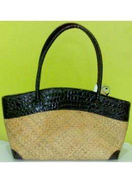 Woven Bamboo Handbag