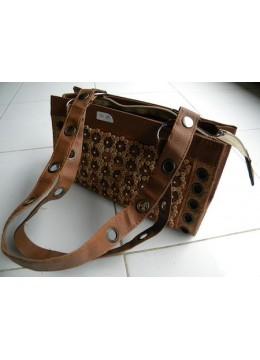 Natural Wood Skin Handbag