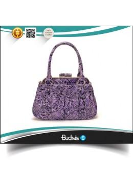 In Handmade Bali Guaranteed 100% Genuine Exotic Python Skin Handbag