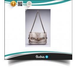 High Quality Manufactured Genuine Exotic Python Skin Handbag