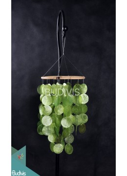 Lime Green Colour Capiz Rattan Wind Chimes