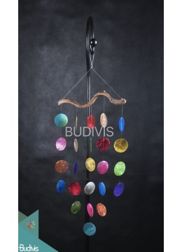 Five Line Capiz Natural Root Wind Chimes