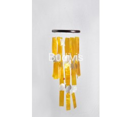 Yellow Rectangle Capiz Wind Chimes Relaxing Sound