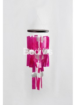 Pink Rectangle Capiz Wind Chimes High Quality