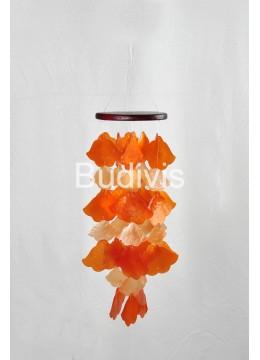Orange Angels Trumpet Flower Capiz Wind Chimes
