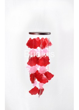 Red and Pink Brugmansia Capiz Wind Chimes