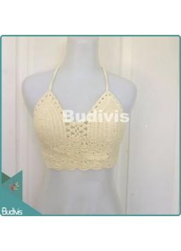 White Knitting Bikini
