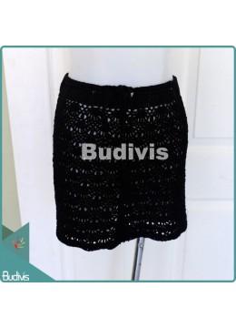 Medium Black Knitting Skirt