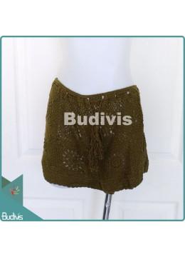 Green Army Knitting Skirt