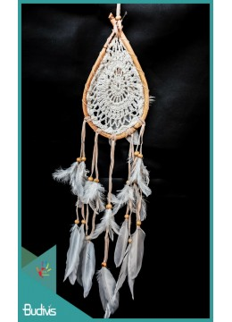 Dream Catcher Drop Rattan With Feather On The Center